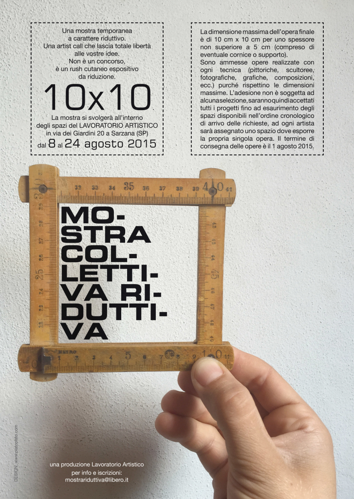 coworking space // Platò // manifesto mostra 10x10