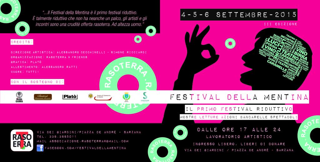 coworking space // Platò // flyer festival della mentina 2015