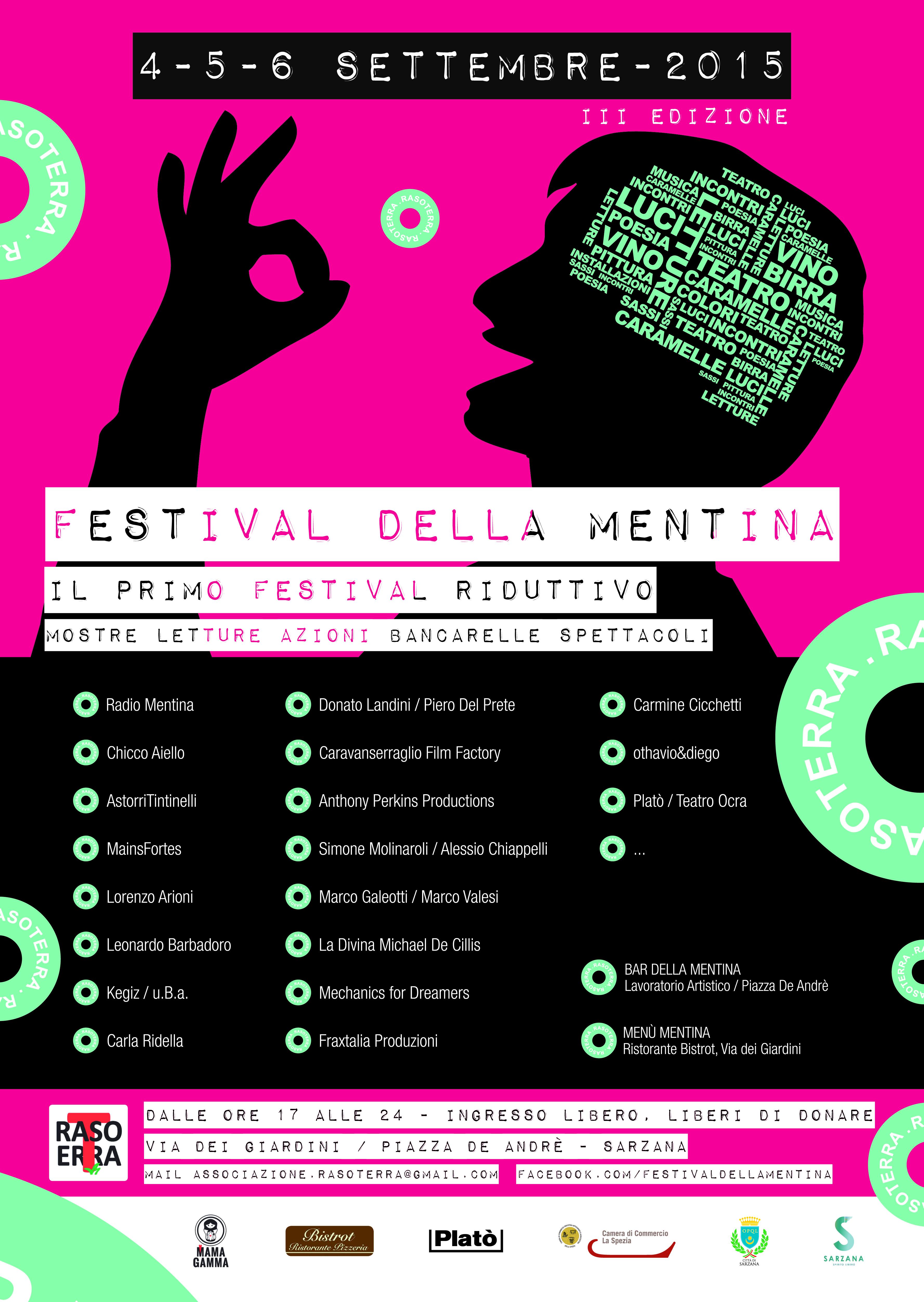 manifesto festival della mentina 2015